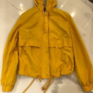H & M Yellow Spring Jacket with Zipper Closure